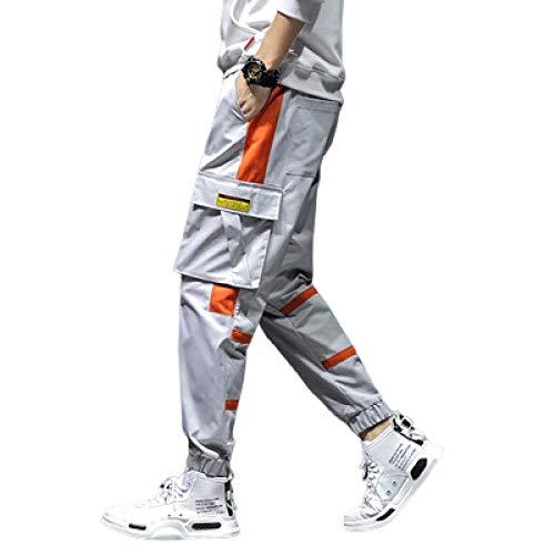 N/ A Pantalon Tactique d'extérieur résistant aux Rayures pour Homme Pantalon Cargo d'extérieur léger Pantalon de Travail Bas avec Poignets à Ourlet Ouvert