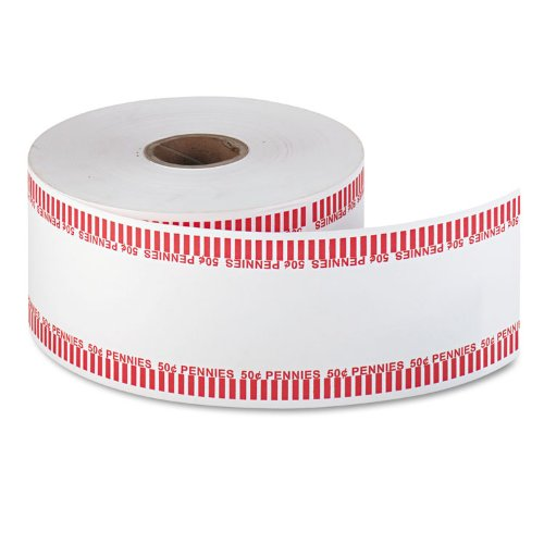 MMF Industries 2160651A07 – Automatic Coin Flat Wrapper Rolls, Pennies, 50, 1900 Wrappers/Roll-MMF2160651A07