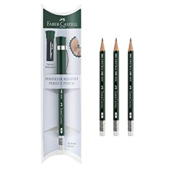 Faber-Castell Perfect Pencil Castell 9000 and 3 Count Pencil Refill - #2 Lead Pencil Sharpener and Pencil Extender