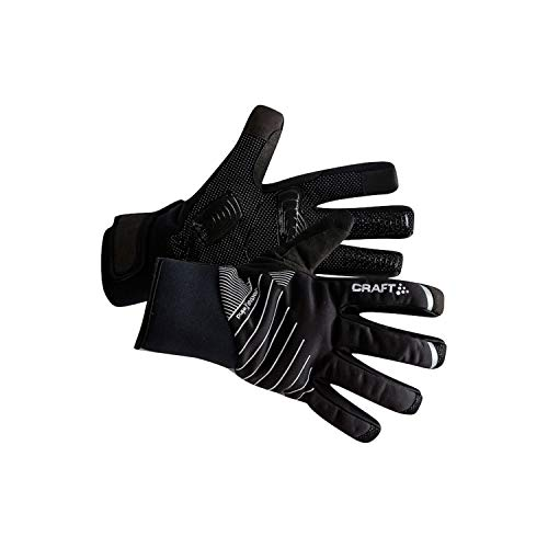 Craft Unisex Shield 2.0 Wind & Waterproof Reflective Cycling Bike Riding Training Glove, Black, Large
