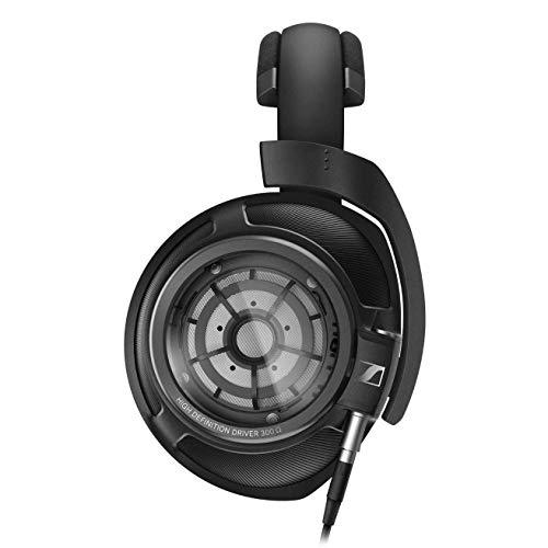 SENNHEISER HD 820 Over-the-Ear-Kopfhörer, Audiophil, Ringheizkörpertreiber mit Glasreflektor-Technologie, schallisolierende geschlossene Ohrmuscheln, inklusive symmetrischem Kabel, Schwarz