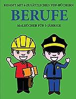 Malbuecher fuer 2-Jaehrige (Berufe): Dieses Buch enthaelt 40 farbige Seiten mit extra dicken Linien, mit denen die Frustration verringert und das Selbstvertrauen gestaerkt werden soll. Dieses Buch wird Kleinkindern dabei helfen, die Kontrolle ueber die Feder zu