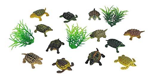 Wild Republic Mini Turtle Polybag, Kids Gifts, Educational Toys, Reusable Bag, 15Piece