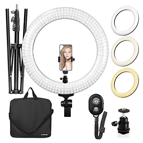 LimoStudio LED Ring Light 18-inch Diameter...