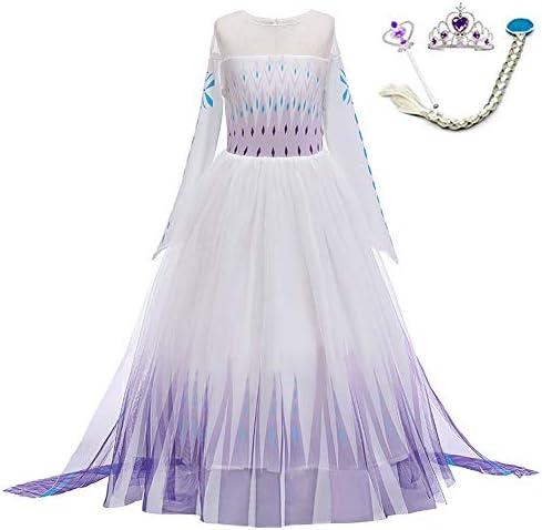 LZH Little Girls Dress Princess Fancy Dresses Outfits Pants Long Sleeve Dress up Accessories product image