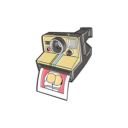 Cartoon Kamera Brosche Legierung Pin Shirt Kragen Abzeichen Emaille Pins Broschen für Männer Frauen Abzeichen Kiefern Broschen Schmuck Zubehör