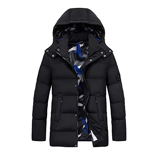 LYzpf Beheizte Jacke Daunenjacke Mann Hoodies USB wiederaufladbar Beheizbare Kleidung Winterwärmer Flexwarm Bekleidung für Outdoorarbeiten & Tägliches Tragen,Black,4XL