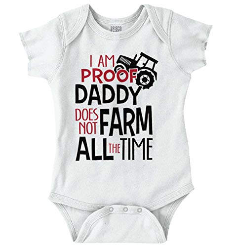 Daddy Does Not Farm All Time Baby Romper Bodysuits