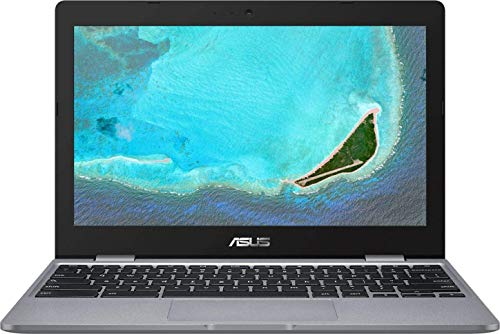 ASUS Chromebook CX22NA 11.6' Laptop Computer for Student, Intel Celeron N3350 up to 2.4GHz, 4GB RAM, 16GB eMMC, Microphone, Webcam, USB-C, Gray, Chrome OS, BROAGE 32GB Flash Stylus, Online Class Ready