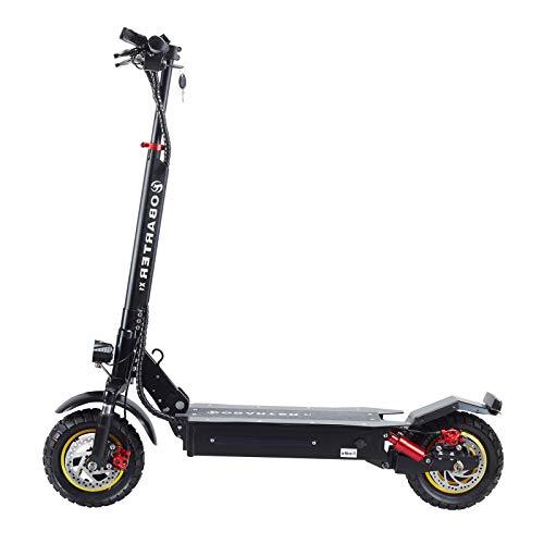 Joycelzen Patinete Eléctrico X1, Scooter Eléctrico Todoterreno Plegable con Motor de 1000 W y Neumáticos de 10 Pulgadas Apto para Adultos, Carga 120 kg, hasta 45 km / h