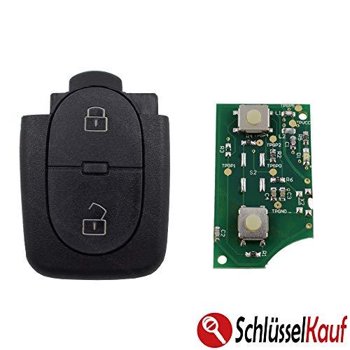 KONIKON Sender Auto Schlüssel 433,92 MHz passend für Audi 4D0837231R 2 Tasten Gehäuse Sendeeinheit Funk Fernbedienung Funkschlüssel Funkgehäuse Ersatz Ersatzgehäuse Neu