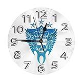 掛け時計 壁掛け時計 アナログ クロック インテリア 円形 サイレント ノベルティ 三代目 J Soul Brothers Logo 印刷 掛置兼用 フラットフェイス 事務所 学校 教室用 直径25cm 部屋装飾