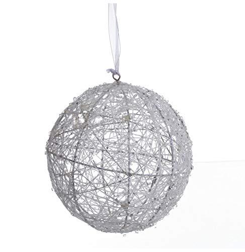 AC-Déco Boule De Noël - Métal - 13 Cm