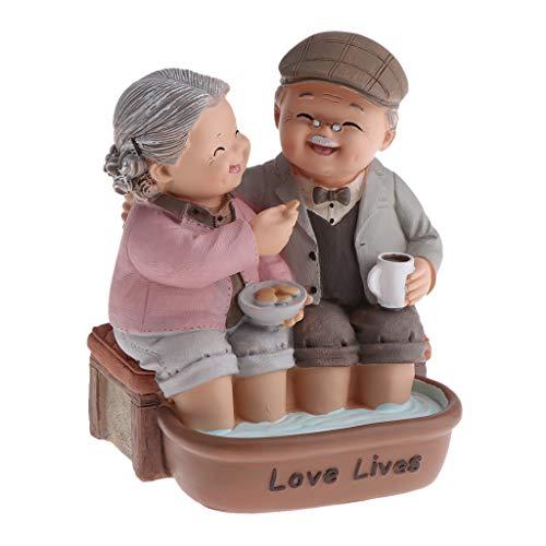LOVIVER Familien Gartenfigur für Miniaturblumentopf Wohnkultur - Fußbad