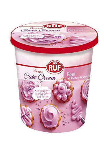 RUF Cake Cream Rosa Himbeer Geschmack für 12 Cup Cakes oder 1 Torte, 400 g