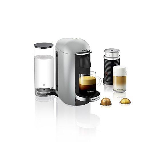 Breville-Nespresso USA BNV450SIL1BUC1 VertuoPlus Coffee and Espresso Machine, Silver