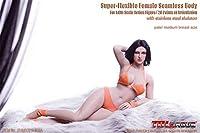 【R・DOLL】 TBLeague 1/6 女性 フィギュア ドール 素体 ボディ 超柔軟性・シームレス ぽっちゃり バストサイズ M 交換足 交換手 白肌 TBリーグ female super flexible seamless body S28A