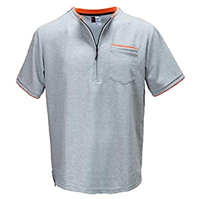 Men's Chemo Care Easy Port Access Shirt - Best Gift for Cancer Patients (XL) Grey