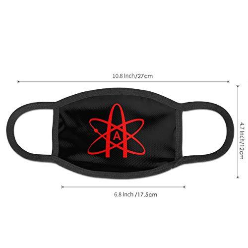 Atmungsaktive Premium Gesichtsschutzhülle,Atheist Atom Symbol Frauen Männer Windabweisende Schutzhülle Gegen Skifahren Camping Reisesicherheit, Täglicher Gebrauch