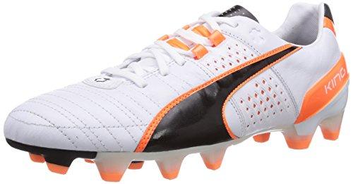 Puma Herren King II FG Fußballschuhe, Weiß (white-black-fluo flash orange 02), 40 EU
