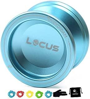 MAGICYOYO Responsive V6 Locus Aluminum YoYo Star Logo Kids Beginner Learner Yoyo Bag, Yoyo Glove 5 Spinning Strings (Sky Blue)
