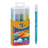 BIC Kids Kid Couleur - Pack de 20 rotuladores de colorear para aprendizaje en caja metálica, multicolor