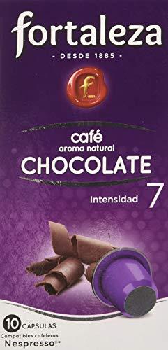 Café FORTALEZA - Cápsulas de café con Aroma Chocolate Compatibles con Nespresso - Pack 5 x 10 - Total 50 Cápsulas