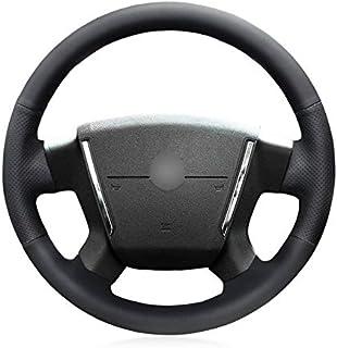 HCDSWSN Cubierta del Volante del Coche de Cuero Artificial Negro para Dodge Caliber 2008-2011