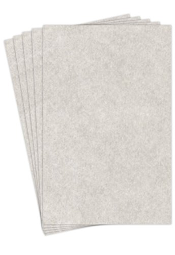 "New Smoke Gray Stationery Parchment Recycled Paper | 65Lb Cover Cardstock | 11"" x 17"" Inches 