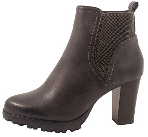 Jumex Damen Stiefeletten Ankle Boots Chunkyrayan P 949-GA-Grau-37