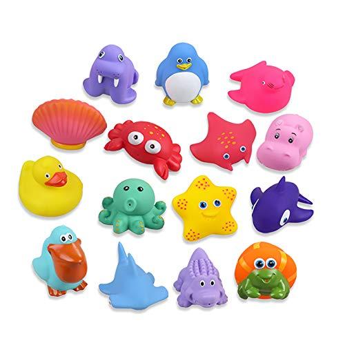 Lictin Juguetes de Baño para Bebé Niños - 15PCS Juguetes