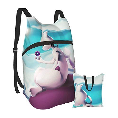 Mewtwo - Mochila plegable y portátil, ligera, plegable, para viajes, senderismo, resistente al agua, camping, al aire libre, plegable, para hombres, mujeres, viajes, senderismo, mochila impermeable