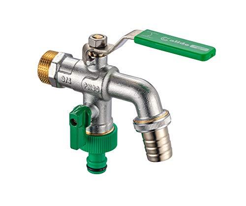 Calido Wasserhahn für Garten- oder Industrie-Wasserhahn mit Hebel und Gartenschlauch-Stecker, frostbeständig, -18 °C