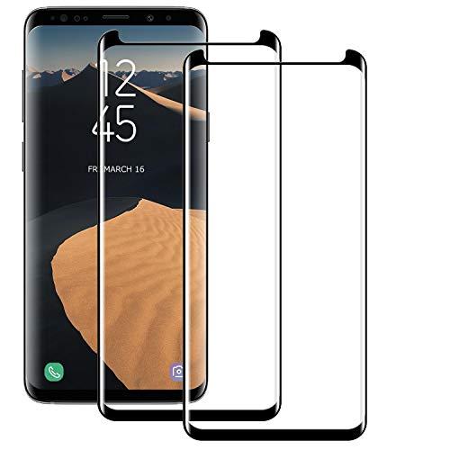 BOBI Vetro Temperato per Samsung Galaxy S8 Pellicola Protettiva, Protezione Schermo, 2 Pezzi, Ultra Resistente, HD Anti Bolle, Anti-Impronta, Facile da Pulire