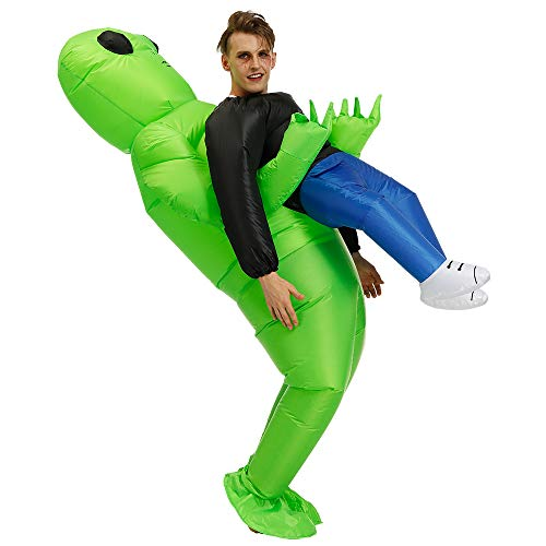 Stegosaurus Inflatable Alien Hold me Costume/ Adult Inflatable Alien Costume/Halloween Costume/Inflatable Party Costumes(Adult)