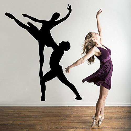 wZUN Nettes tanzendes Paar Wandkunst Wandaufkleber Vinylaufkleber Dekoration Zubehör Wandbild 36x44cm