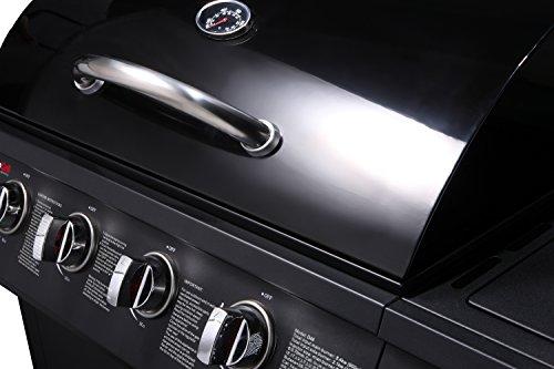 CosmoGrill 4+1 Gas Burner Garden Grill BBQ Barbecue w/ Side Burner & Storage - Black