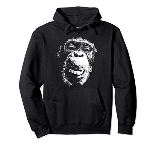 Affe lustiger frecher Schimpanse Natur Tier - Tierliebhaber Pullover Hoodie