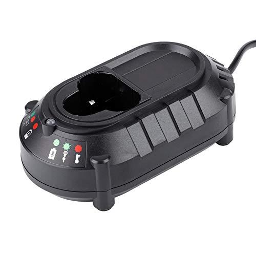 FOLOSAFENAR Cargador de batería con Control de Carga de 25W Cargador de batería de 100-240V, para Makita, para batería de Litio de 10.8V / 12V(European regulations)