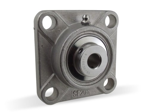 S-SBF204-20MM, 20mm Mounted Unit Bearing, 4-Bolt Flange