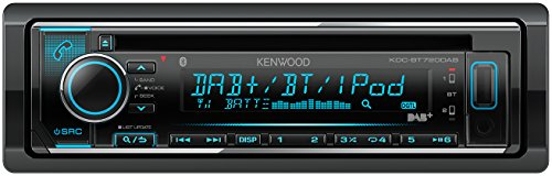 Kenwood Electronics KDC-BT720DAB 50W Bluetooth Schwarz - Auto Media-Receiver (Schwarz, 1 DIN, 50 W, 105 dB, AAC,FLAC,MP3,WAV,WMA, LCD)