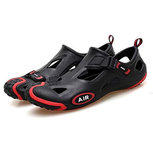 Sebasty Calzado Deportivo al Aire Libre para Hombres y Mujeres,Zapatos de Natación,Sandalias de Playa para Surf,Zapatos de Ciclismo,Zapatos de Verano para Ciclismo en la Playa Bicicletas,Black-44