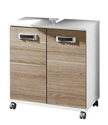 Schildmeyer Cadiz 119736 Waschbeckenunterschrank, 60 x 63,5 x 32,5 cm, eiche grau