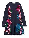 Desigual Girls Vest_Wildflower Casual Dress, Blue, 7/8