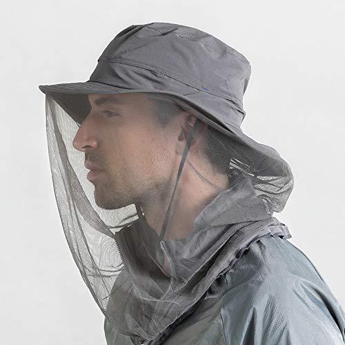 Hunterbee Dark Gray Mosquito Insect hat/Beekeeper bee Beekeeping hat/Mesh Bug face Shields Mask
