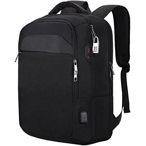 Laptop Backpack, Anti-Theft Business Travel Work Computer Backpack with USB Charging Port, Large Lightweight College School Bag Black44.5 * 18.30Cm 15.6 Inch