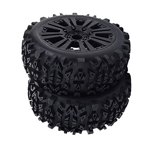 UJETML (H) Llantas de Barras 1: 8 Escala RC Repuestos para automóviles RC Coche Rueda Llantas Neumáticos Negro 17mm Ruedas y neumáticos hexagonales de 17 mm.