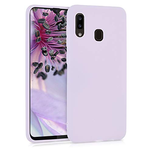 kwmobile TPU Silicone Case Compatible with Samsung Galaxy A20 - Soft Flexible Protective Phone Cover - Lavender