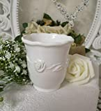 Flair Vitrine Vaso para cepillos de Dientes Taza–Juliet de cerámica Color Blanco baño Nostalgie rústico Shabby French