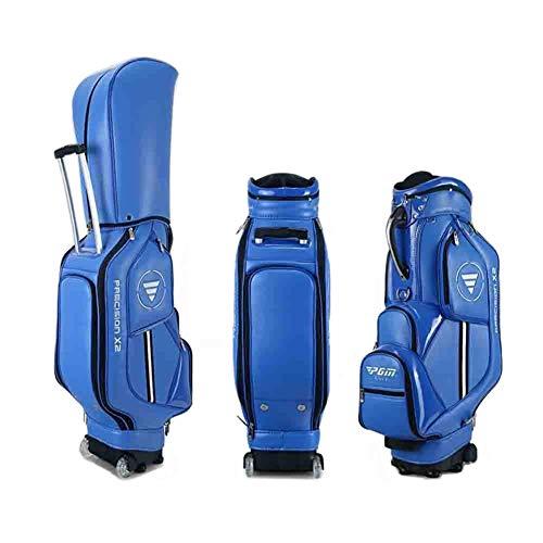 kofull PGM QB029 - Bolsas de golf con ruedas y soporte para palos de golf (poliuretano)